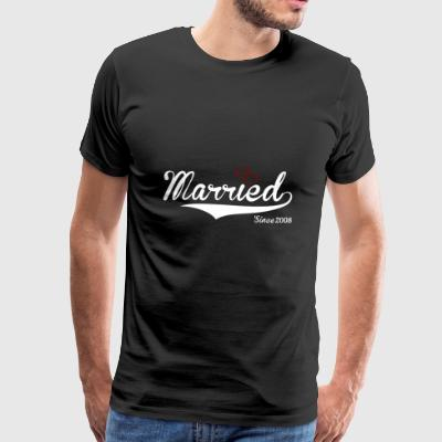 married since 2008 happy marriage/wedding - Men's Premium T-Shirt