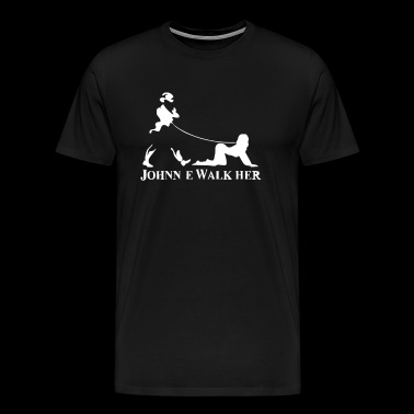 Johnnie Walk Her Walker Mens Funny Whisky Paro - Men's Premium T-Shirt