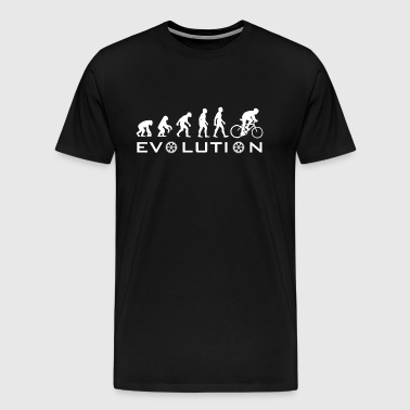 Evolution Of Bike - in White - Men's Premium T-Shirt
