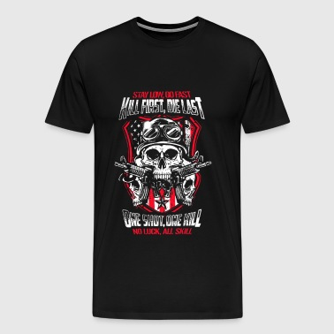 Airsoft - Kill first, die last. One shot, one kill - Men's Premium T-Shirt