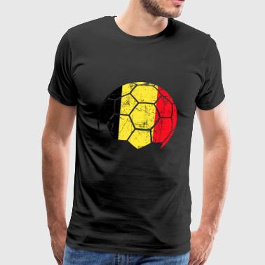 Belgium Soccer Football Ball - Men's Premium T-Shirt