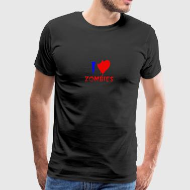 love zombies humour logo - Men's Premium T-Shirt