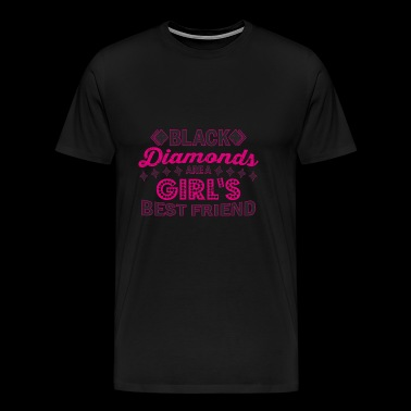 Black Diamonds Girl's Best Friend Gift - Men's Premium T-Shirt