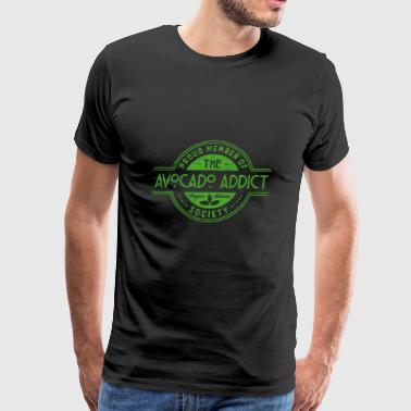 Avocado Addict Vegan Athlete Society Club Member - Men's Premium T-Shirt