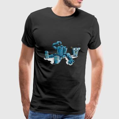 zombie monster robot dragon halloween3 - Men's Premium T-Shirt