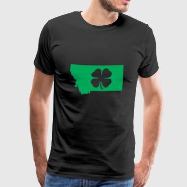 Montana Usa Saint Patricks Day Map - Men's Premium T-Shirt