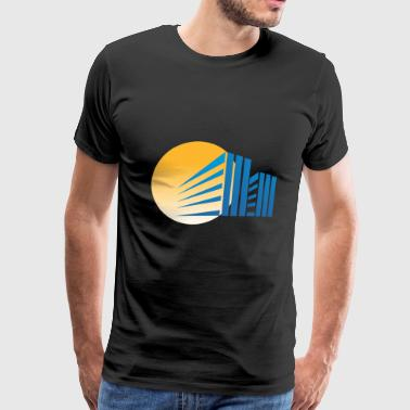 Sunset Behind the Building - Men's Premium T-Shirt