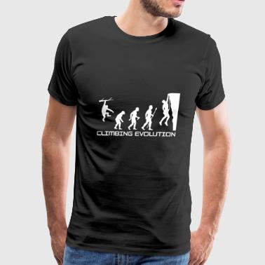 Climbing Evolution - Men's Premium T-Shirt