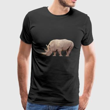 nashorn rhino rhinoceros animal tiere2 - Men's Premium T-Shirt
