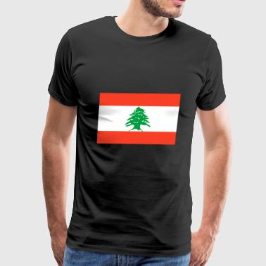 Lebanon country flag love my land patriot - Men's Premium T-Shirt