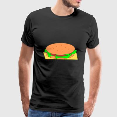 burger hamburger cheeseburger fast food fastfood45 - Men's Premium T-Shirt