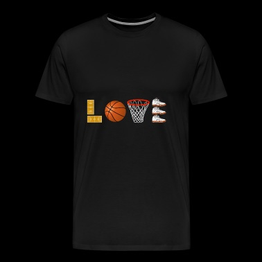I LOVE Basketball Streetball Sport Slam-dunk 4 - Men's Premium T-Shirt
