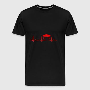 GIFT - ECG SPACESHIP RED - Men's Premium T-Shirt