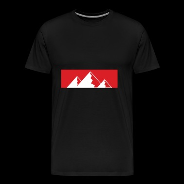 Red Bar Mountains - Men's Premium T-Shirt