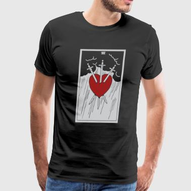 Tarot Three Of Swords - Men's Premium T-Shirt