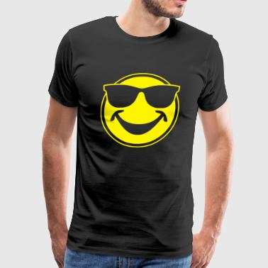 COOL yellow SMILEY BRO with sunglasses - Men's Premium T-Shirt