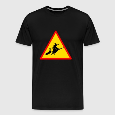 Halloween witches ban sign fun - Men's Premium T-Shirt