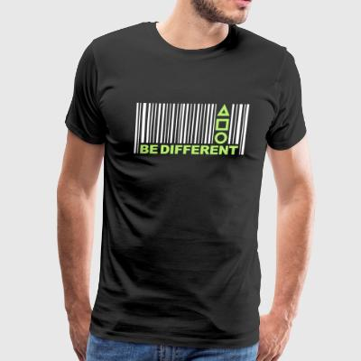 Barcode Be Different - Men's Premium T-Shirt