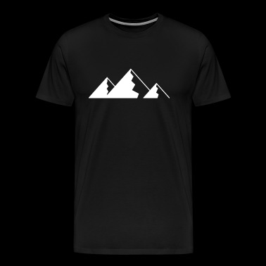 Mountain, Mountains - WHITE - Men's Premium T-Shirt