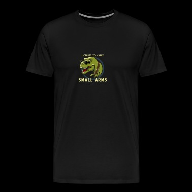 Small Arms T Rex Humour Logo - Men's Premium T-Shirt