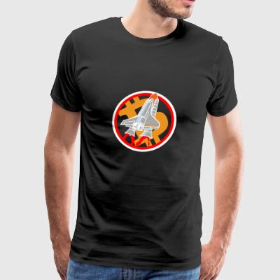 Bitcoin : rocket - Men's Premium T-Shirt