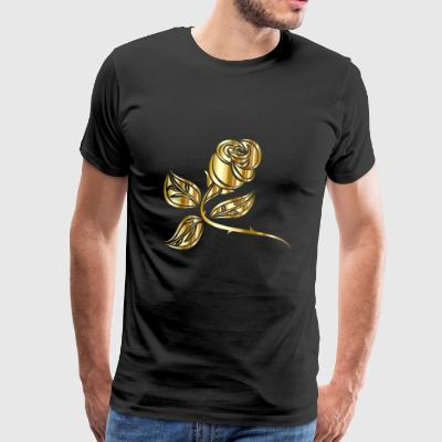 Golden Flower - Men's Premium T-Shirt