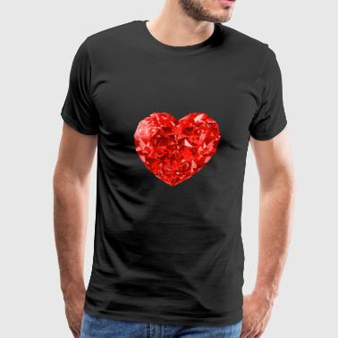 Red Diamond Heart - Men's Premium T-Shirt