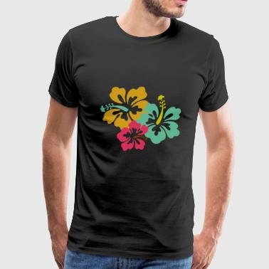 Caribbean Flowers - Men's Premium T-Shirt