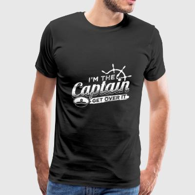 Funny Sail Sailing Sailor Shirt The Captain 2 - Men's Premium T-Shirt