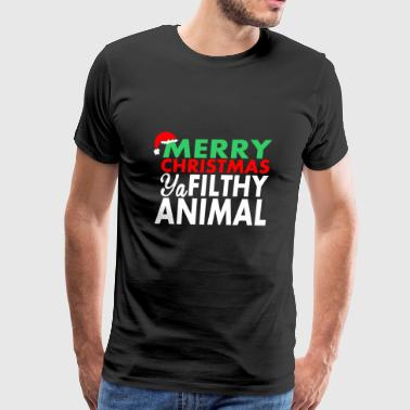 Merry Christmas Ya Animal - Men's Premium T-Shirt