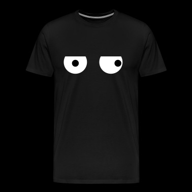 Funny Squint Eyes - Creative Design - Men's Premium T-Shirt