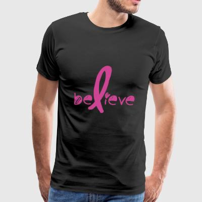 Believe Cancer Fight - Men's Premium T-Shirt