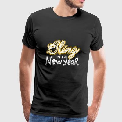 New Years Eve: Bling Into The New Year NYE Gift - Men's Premium T-Shirt