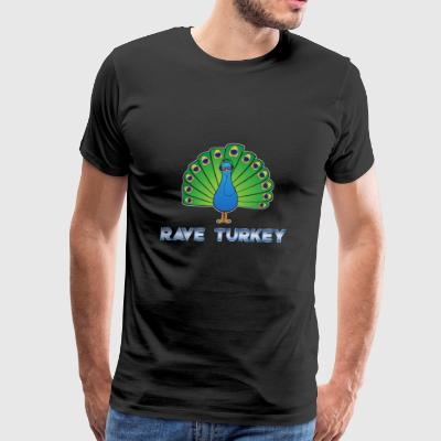 Headphone Party Peacock Rave Turkey Gift - Men's Premium T-Shirt