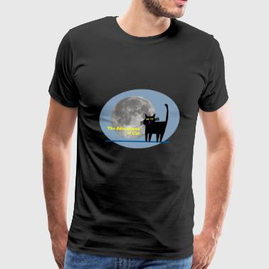 Cat Deals with Peer Pressure - Men's Premium T-Shirt