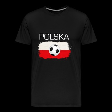 Football Soccer Poland Polska Fan Flag Gift - Men's Premium T-Shirt
