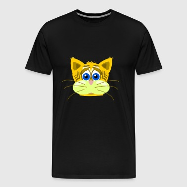 cat cat sad inkscape - Men's Premium T-Shirt