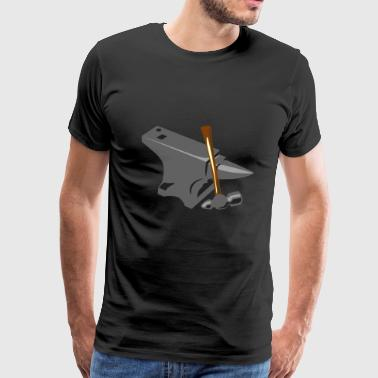 Blacksmith Anvil and Hammer - Men's Premium T-Shirt