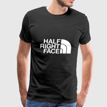 half right face - Men's Premium T-Shirt