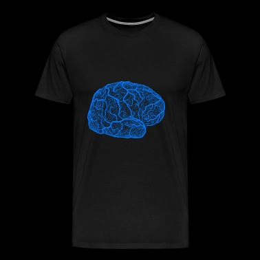 layerfMRI blue vessel - Men's Premium T-Shirt