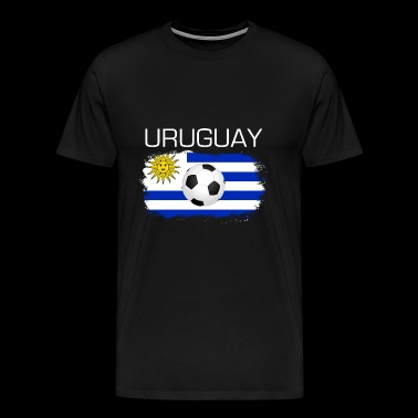 Football Soccer Uruguay Fan Flag Gift - Men's Premium T-Shirt