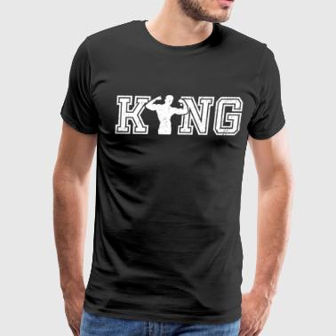 King of Bodybuilding graphic bodybuilder shirt - Men's Premium T-Shirt