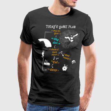 Today's Game Plan Sky Dive T Shirt - Men's Premium T-Shirt