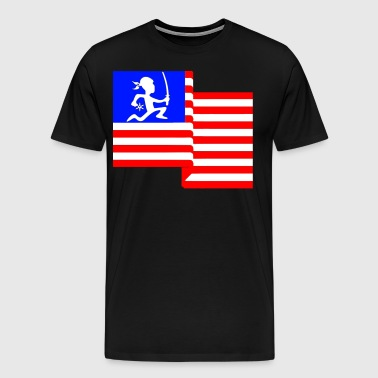 H-Town Ninja Flag - Men's Premium T-Shirt