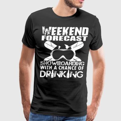 weekend forest snowboarding with a chance of drink - Men's Premium T-Shirt