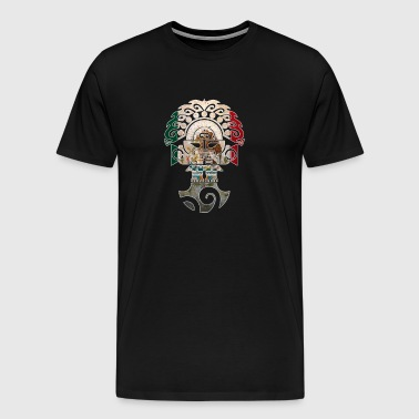 Cool Mexican Shirt Mexican Flag Shirt for Mexican Pride Tumi Outline - Men's Premium T-Shirt