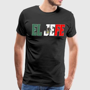 Cool EL HEFE Mexican Shirt Mexican Flag Shirt for Mexican Pride With Border - Men's Premium T-Shirt