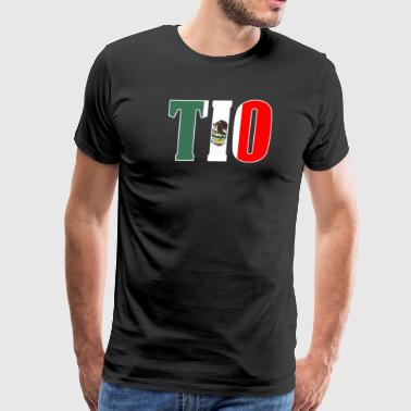 Cool Tio Gift Mexican Shirt Mexican Flag Shirt for Mexican Pride Outlined - Men's Premium T-Shirt