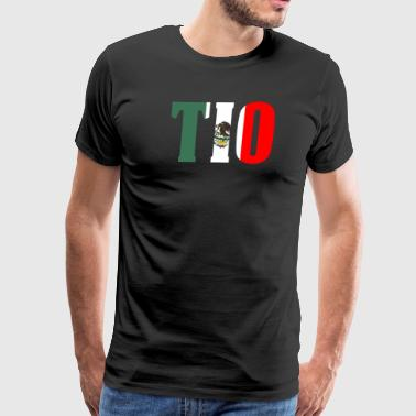 Cool Tio Gift Mexican Shirt Mexican Flag Shirt for Mexican Pride - Men's Premium T-Shirt