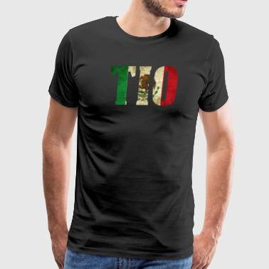Cool Tio Gift Mexican Shirt Mexican Flag Shirt for Mexican Pride Vintage Look - Men's Premium T-Shirt